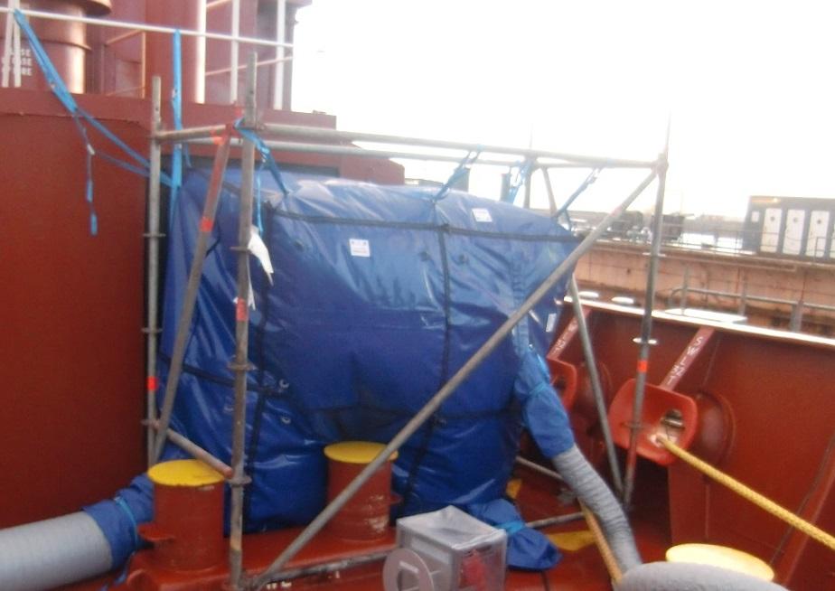 LNG tanker habitat